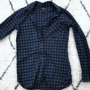 Madewell slim flannel button down shirt